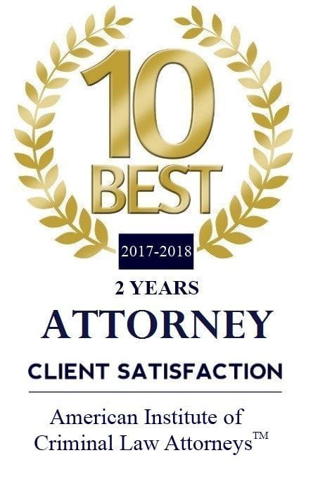 American Institute of Criminal Law Attorneys 10 Best 2017 Attorney logo